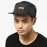 FLAME LOGO 5-PANEL HAT-BLK