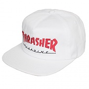(3131349)MAGAZINE LOGO TWO-TONE HAT-WHT