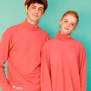Turtleneck knit (pink)
