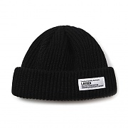 SHORT WATCH CAP BEANIE-BLACK