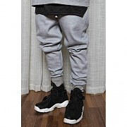 BASIC Tape Detail Sweat Pants Grey