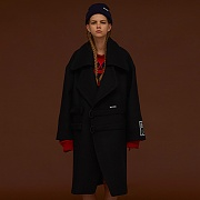 TWO BUCKLE OVERSIZE COAT_BLACK