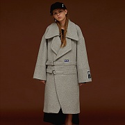 TWO BUCKLE OVERSIZE COAT_GREY