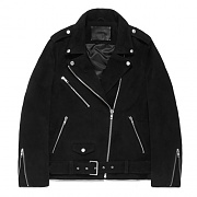 WOMENS SUEDE RIDER JACKET GS [BLACK](GSWL01)