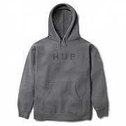 OG LOGO PULLOVER HOOD-GUN.HEATHER