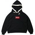 OVERSIZE SWEAT LINE HOOD-BLACK