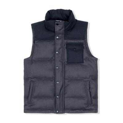 DUCK DOWN VEST - GRAY