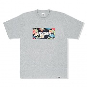 HAWAIIAN BOX LOGO TEE - GRAY