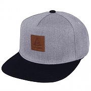 LEATHER ICON SNAPBACK - LIGHT GRAY