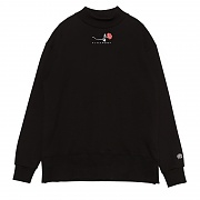 SINGLE ROSE MIDNECK SWEATSHIRT BLACK
