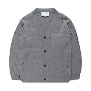 DAMAGE CARDIGAN GS-GRAY