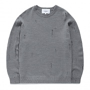 DAMAGE KNIT GS-GRAY