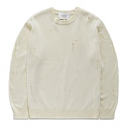 DAMAGE KNIT GS-IVORY