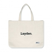 LOWER LOGO ECO BAG-IVORY