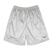 LONG MESH SHORT WITH POCKETS -ATHLETIC GREY