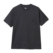 HEATHER O DYED SSL POCKET TEE-BLAH
