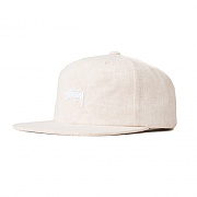 COATED LINEN STRAPBACK CAP-TAN