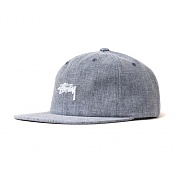 COATED LINEN STRAPBACK CAP-NAVY