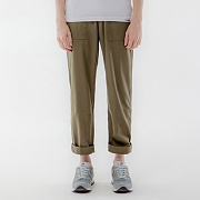 REVERSED TWILL FATIGUE PANTS-OLIVE