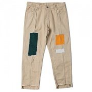 PATCHWORK CUTTING PANTS_BEIGE