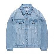 DAMAGED DENIM JACKET GS [LIGHT BLUE]