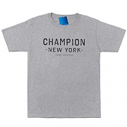 GRAPHIC TEE-CHAMPION CO NYC-OXFORD GREY
