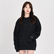 POWERBLEND FLEECE CREW-BLACK
