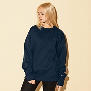 (S0888) POWERBLEND FLEECE CREW-NAVY