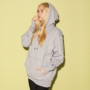 (S0889) POWERBLEND FLEECE PO HOOD-OXFORD GREY