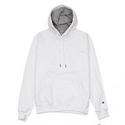 (S0889) POWERBLEND FLEECE PO HOOD-WHITE
