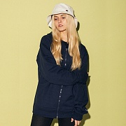 (S0891) POWERBLEND FLEECE FULL ZIP HOODIE-NAVY