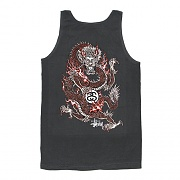 FIRE DRAGON PIG. DYED TANK-BLK
