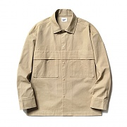 Fatigue Pocket Shirt Jacket Beige