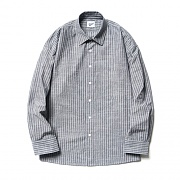Ticking Stripe Shirts Dark Gray