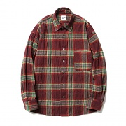 Plaid Check Shirts Burgundy
