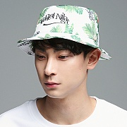 TROPICAL BUCKETS HAT_WHITE