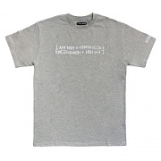 RETRO REFLECTIVE BASIC LOGO TEE-GREY
