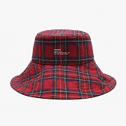WIDE BUCKET HAT (RED CHECK)