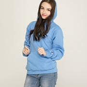 (S700) DOUBLE DRY ECO FLEECE HOOD-LIGHTBLUE