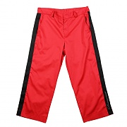 LINE BANDED PANTS RED