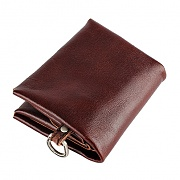 24# H FOLD WALLET - RED BROWN