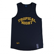 TROPICAL NIGHT SLEEVELESS_NAVY
