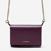 LEATHER PIECE WMS WALLET (PURPLE)
