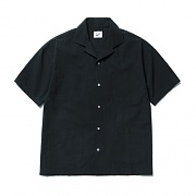 4pocket Open Collar Shirts Black