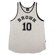 Brown sports sleeveless grey
