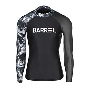 ODD RASHGUARD MEN-BLACK-BK.HAWAII STR-D.GREY