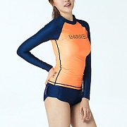 EVE RASHGUARD -PEACH-NAVY