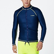 KUA ZIP-UP RASHGUARD-NAVY