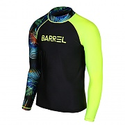 ODD RASHGUARD MEN-BLACK-NEON TROPICAL-NEON YELLOW