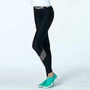 HIGH-WAIST BAND WATER LEGGINGS-BLACK